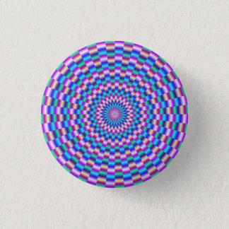 Blue and Pink Circular Links Pinback Button