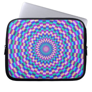 Blue and Pink Circular Links  Sleeve Laptop Computer Sleeves