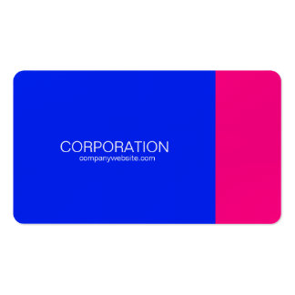 Blue and pink classy business card