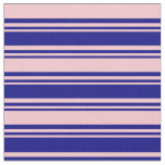 [ Thumbnail: Blue and Pink Colored Lines Pattern Fabric ]