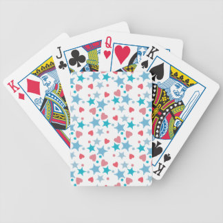 Blue and Pink Confetti Poker Deck