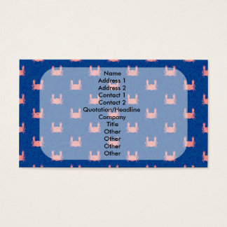 Blue and Pink Crab Pattern Business Card