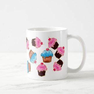 Blue and Pink Cupcake Mug