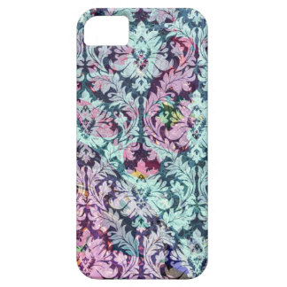 Blue and Pink Damask iPhone 5 Covers