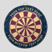 Blue and Pink Dartboard with Custom Text