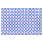 [ Thumbnail: Blue and Pink Diamond Shape Pattern Tissue Paper ]
