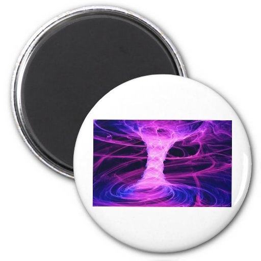 Blue and Pink Energy Tornado 2 Inch Round Magnet