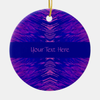 Blue and Pink Explosion Ceramic Ornament
