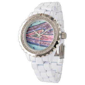 Blue and Pink Faith Hearts Custom Design Watches