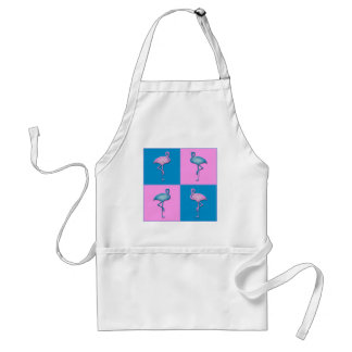 Blue and Pink Flamingos Adult Apron