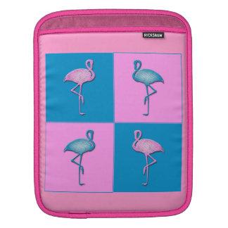 Blue and Pink Flamingos iPad Sleeves