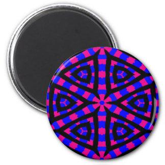 Blue and Pink Floral Design Magnet