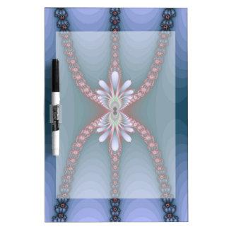 Blue and Pink Fractal Lady Spider Design Dry-Erase Board