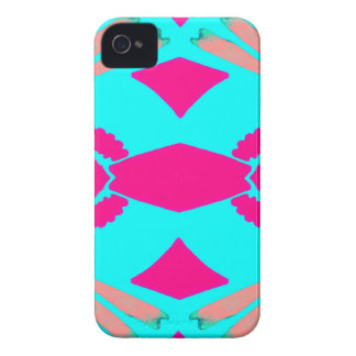 Blue and Pink Geo Fan Imprints iPhone 4 Case-Mate Case
