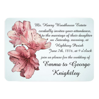 Blue and Pink Illustrated Flowers Customize Sets Card
