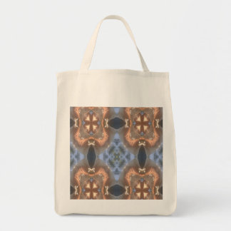 Blue and Pink Kaleidoscope Canvas Bags