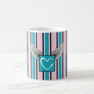 Blue and pink Kciafa soon Coffee Mug