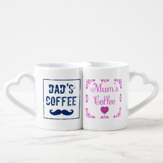 Blue and Pink Mum and Dad Coffee Mugs