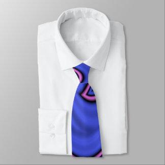 Blue and Pink Polar Art Neck Tie
