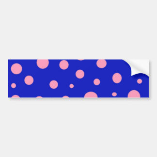Blue and Pink Polka Dot Bumper Stickers