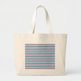 Blue and Pink Polka Dotted Chevron Bags