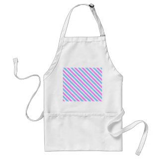 Blue and Pink Rickrack Zigzag Pattern Adult Apron
