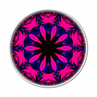 Blue and Pink Rose Kaleidoscope Acrylic Cut Outs
