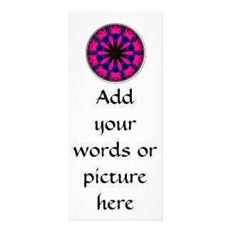Blue and Pink Rose Kaleidoscope Rack Cards