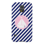 Blue and Pink Sailboat Galaxy S5 Cover