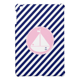 Blue and Pink Sailboat iPad Mini Cover