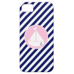 Blue and Pink Sailboat iPhone 5 Cover