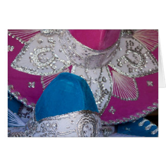 Blue and Pink Sombreros Card