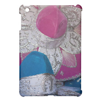 Blue and Pink Sombreros iPad Mini Covers