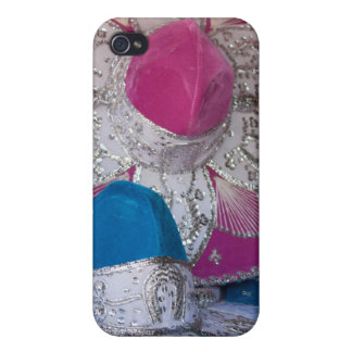 Blue and Pink Sombreros iPhone 4 Covers