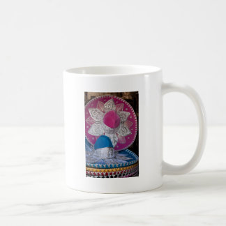 Blue and Pink Sombreros Coffee Mugs