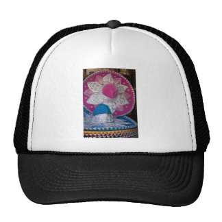 Blue and Pink Sombreros Trucker Hat