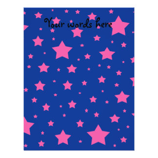 Blue and pink stars flyers