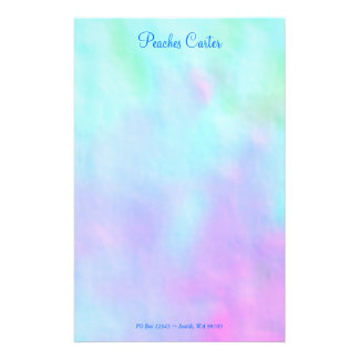 Blue and Pink Stationery