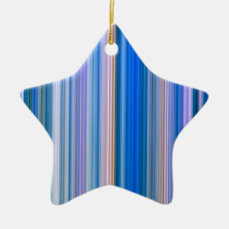Blue and Pink Stripes Ceramic Ornament