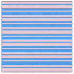 [ Thumbnail: Blue and Pink Stripes/Lines Pattern Fabric ]