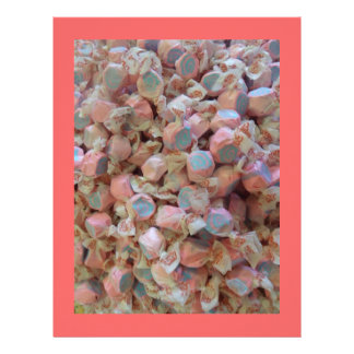 Blue and Pink Taffy Candy Scrapbook Paper Letterhead