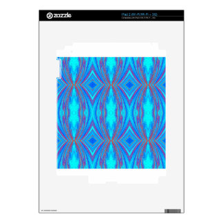 Blue And Pink Texture Decals For The iPad 2