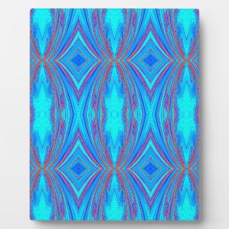 Blue And Pink Texture Plaque