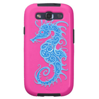 Blue and Pink Tribal Seahorse Samsung Galaxy S3 Cases