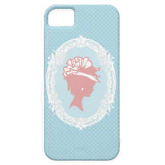 Blue and Pink Vintage Cameo iPhone SE/5/5s Case