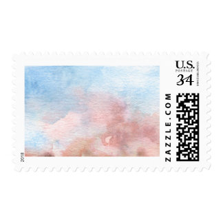 Blue and Pink Watercolor Wash Stamp