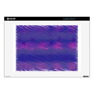 Blue and Pink Wavy Pattern Laptop Decals