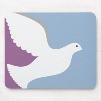 Blue and Plum Dove Mouse Pad