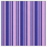 [ Thumbnail: Blue and Plum Striped Pattern Fabric ]