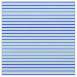 [ Thumbnail: Blue and Powder Blue Colored Stripes Fabric ]